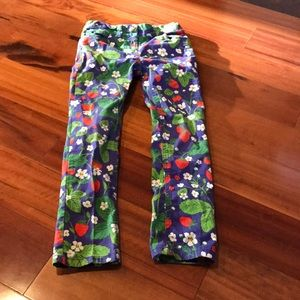 Girls Mini Boden Strawberry Vine Pants size 8